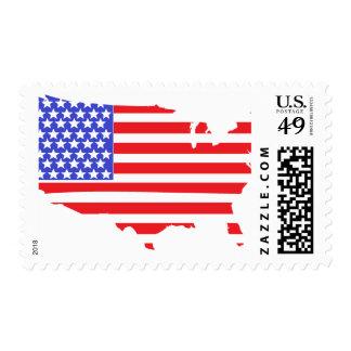 US Flag Map postage