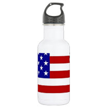 US Flag Map Stainless Steel Water Bottle