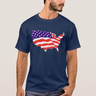 US Flag Map T-Shirt