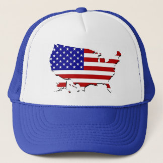 US Flag Map Trucker Hat