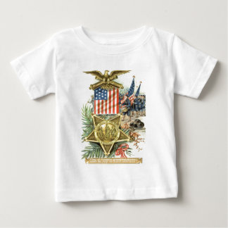 US Flag Medal Army March Eagle Cannon Baby T-Shirt
