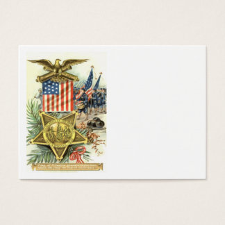 US Flag Medal Army March Eagle Cannon Business Card
