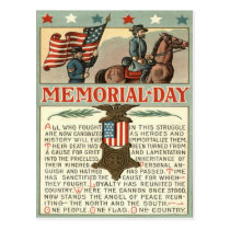 US Flag Medal March Union Soldier Cavalry Postcard