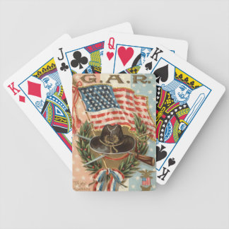 US Flag Medal Sword Rifle Wreath Bicycle Playing Cards