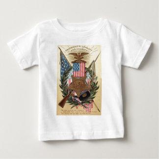 US Flag Medal Wreath Rifle Bayonet T Shirt