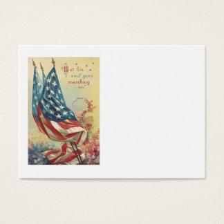 US Flag Memorial Day Flower Business Card