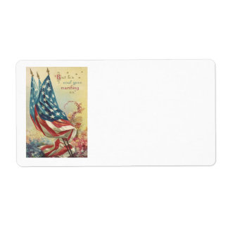 US Flag Memorial Day Flower Label