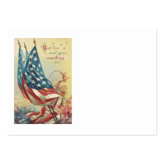 US Flag Memorial Day Flower Large Business Card