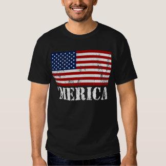 US Flag 'MERICA Distressed T-shirt