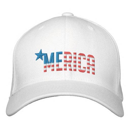 US Flag 'MERICA Baseball Cap