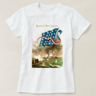 US Flag Merrimack Monitor Ironclad Ship T-Shirt