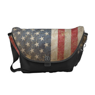 US Flag Messenger Bag