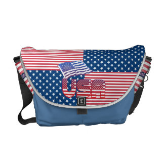 US  flag messenger bags