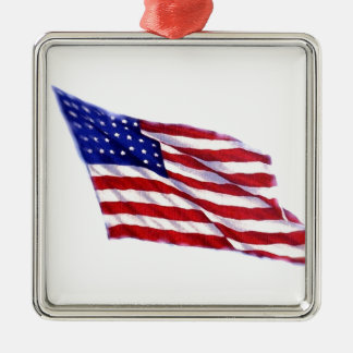 US Flag Metal Ornament