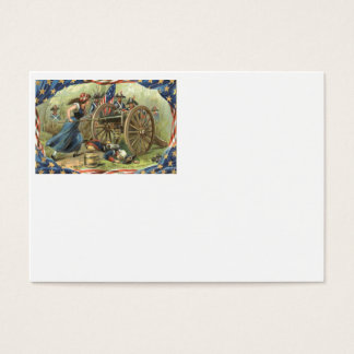 US Flag Molly Pitcher Cannon Business Card