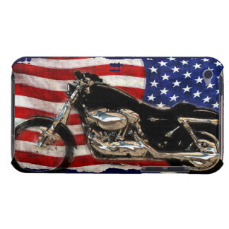 US Flag, Motorcycle, Motorbike, Hog, Barely There iPod Cover