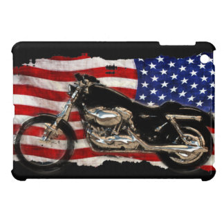 US Flag, Motorcycle, Motorbike, Hog, iPad Mini Case