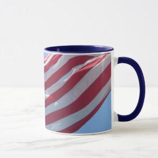 US flag mug