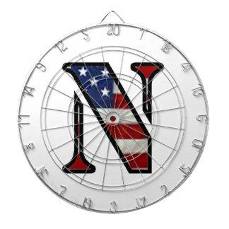 "US Flag ""N"" Dart Board"