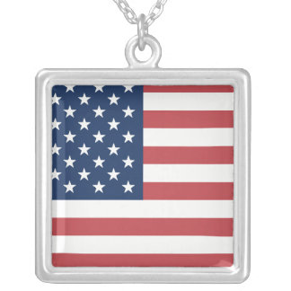 US Flag necklace
