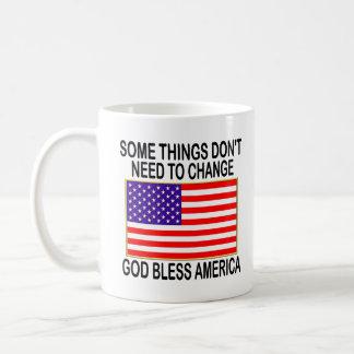 US Flag No Need For Change Coffee Mug