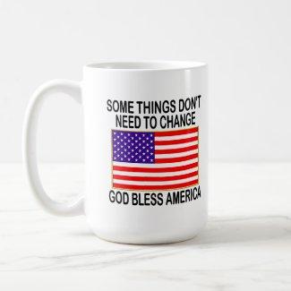 US Flag No Need For Change mug