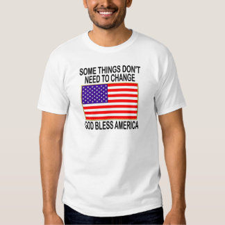US Flag No Need For Change T Shirt
