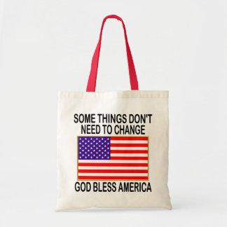 US Flag No Need For Change Tote Bag