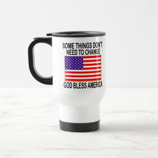 US Flag No Need For Change Travel Mug