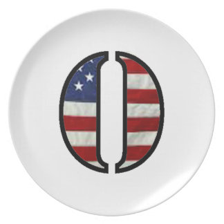 """US Flag """"O"""" matching kitchenware Dinner Plates"""