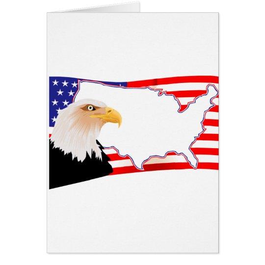 US Flag on Eagle Card