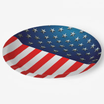 US Flag Paper Plate