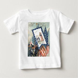 US Flag Parade March Civil War Lady Liberty Baby T-Shirt