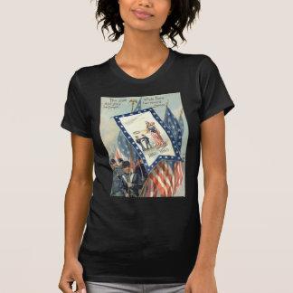 US Flag Parade March Civil War Lady Liberty T-Shirt