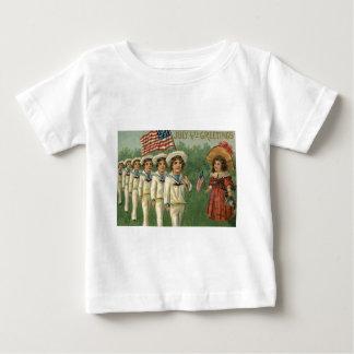 US Flag Parade Navy Uniform 4th of July Baby T-Shirt