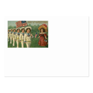 US Flag Parade Navy Uniform 4th of July Large Business Card