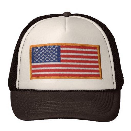 US Flag Patch Image Mesh Trucker Hat