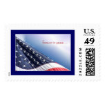 US Flag Patriotic American Postage Stamp