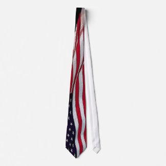 US Flag Patriotic Neck Tie