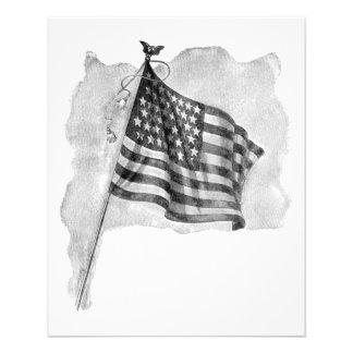 US Flag Patriotic Vintage Art Flyer