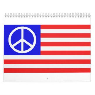 US flag peace Calendar