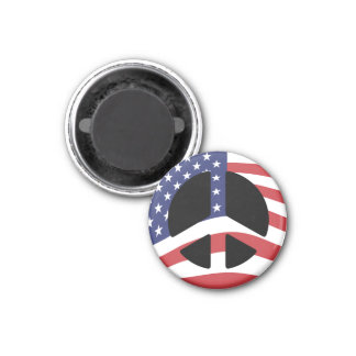 US Flag Peace Sign Magnet