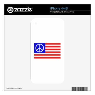US flag peace Skin For iPhone 4