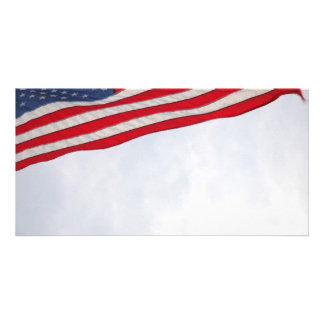 US Flag Photo Card