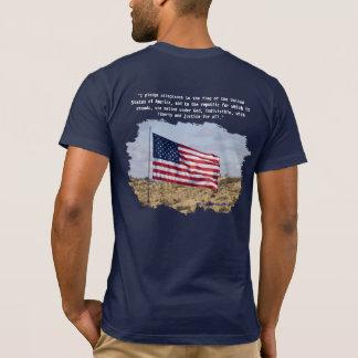 US Flag & Pledge T-Shirt