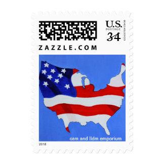 us flag Postage/stamp Postage