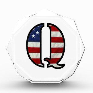 """US Flag """"Q"""" Acrylic Award"""