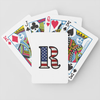 """US Flag """"R"""" Bicycle Playing Cards"""