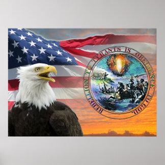 US Flag Rebellion to Tyrants Posters