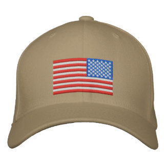 US Flag - Reversed Embroidered Baseball Hat